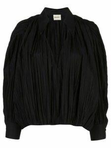 Khaite Malone cocoon blouse - Black