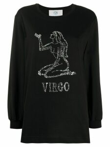 Alberta Ferretti crystal embellished Virgo T-shirt - Black