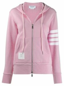 Thom Browne Engineered 4-Bar Zip-Up Hoodie - PINK