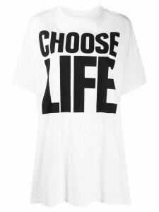 Katharine Hamnett London Choose Life print oversized T-shirt - White