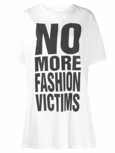 Katharine Hamnett London No more Fashion Victims print T-shirt - White