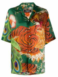 Dsquared2 Jungle Tiger print shirt - Green