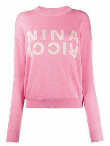 Nina Ricci knitted logo jumper - PINK