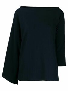 Nuur asymmetric sleeve jumper - Blue