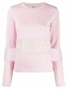Kenzo perforated logo T-shirt - PINK