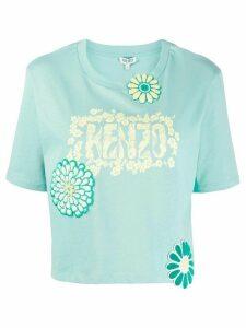 Kenzo floral appliqué T-shirt - Green