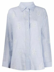 Essentiel Antwerp Vuntuck buttoned shirt - Blue
