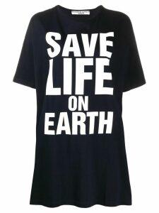 Katharine Hamnett London large script oversized T-shirt - Blue