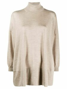 Agnona roll-neck oversized sweater - NEUTRALS