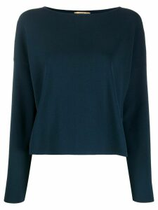 Nuur ribbed knit long sleeve jumper - Blue