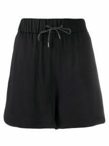 Fabiana Filippi high-waisted drawstring-waist shorts - Black