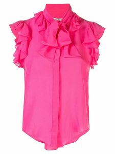 Alice+Olivia sleeveless ruffled blouse - PINK