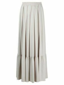 Fabiana Filippi pleated maxi skirt - Grey