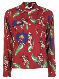 RE/DONE floral-print long-sleeved shirt - Red