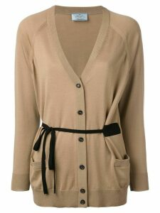 Prada v-neck cardigan - NEUTRALS