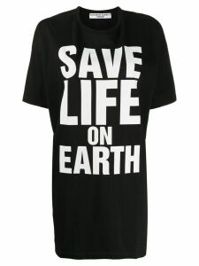 Katharine Hamnett London Save Life On Earth print mid-length T-shirt -