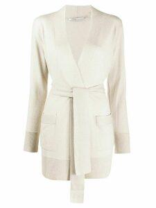 Agnona tie-waist cardigan - NEUTRALS