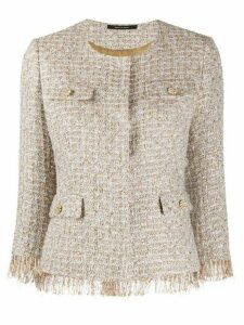 Tagliatore embroidered fringed jacket - GOLD