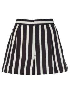 Alice+Olivia striped-print tailored shorts - Black