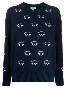 Kenzo eye embroidered jumper - Blue