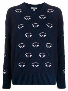 Kenzo eye embroidered jumper - Blue