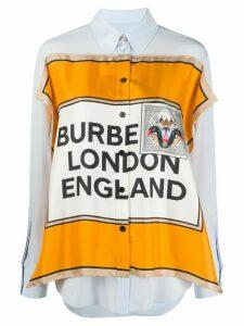 Burberry Montage-print shirt - Blue