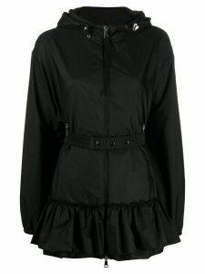 Moncler Sarcelle frilled hem zipped jacket - Black