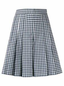 YMC gingham pleated shorts - Blue