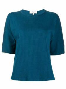 YMC striped loose-fit T-shirt - Blue