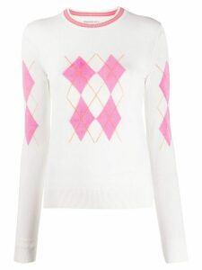 Ermanno Scervino argyle jumper - White