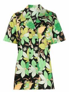Fendi floral shortsleeved shirt - Black