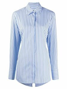 Victoria Victoria Beckham open back shirt - Blue