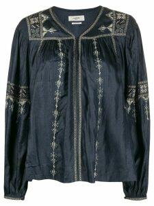 Isabel Marant Étoile Tullya embroidered blouse - Blue