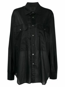 UNRAVEL PROJECT oversized longline shirt - Black