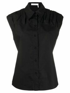See by Chloé ruched panel shirt - Black