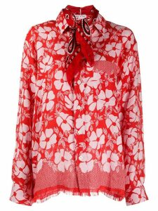 Destin floral print shirt - Red