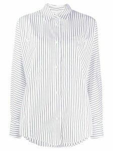 IRO long sleeve striped pattern shirt - White