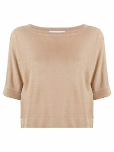Fabiana Filippi relaxed short-sleeve T-shirt - NEUTRALS