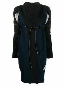 Sacai belted long-sleeve cardigan - Black