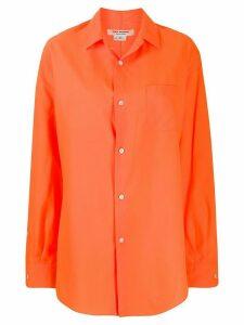 Junya Watanabe long-line button-up shirt - ORANGE