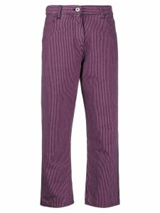 YMC striped straight-leg trousers - Blue