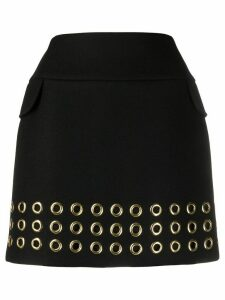 Mulberry Elie eyelet detail skirt - Black