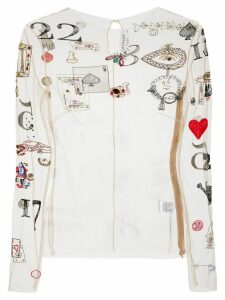 Monse Illusion embroidered top - NEUTRALS