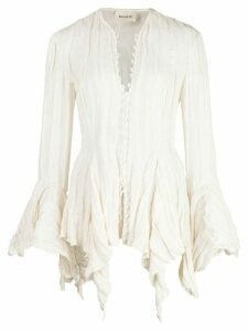Khaite Elliot draped blouse - White