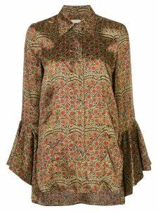 Khaite Lottie floral paisley shirt - NEUTRALS