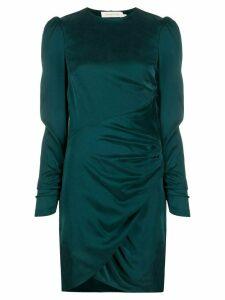 Zimmermann ruched neck-tie dress - Green