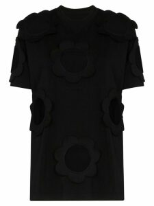 Viktor & Rolf cutout cotton-blend jersey T-shirt - Black