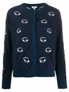 Kenzo eye pattern cardigan - Blue