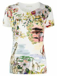 Etro floral-print T-shirt - NEUTRALS