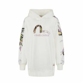 Evisu Allover Ink Painted Tiger Landscape Back Print Hoodie